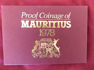 MAURITIUS 1978 PROOF SET (please read condition description)