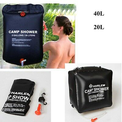 40L/20L Portable Solar Heated Shower Water Bathing Bag Outdoor Camping Hiking