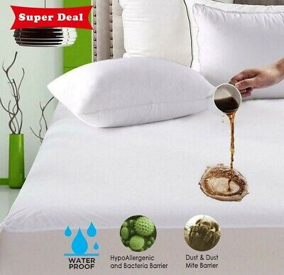 Waterproof Full Queen King Size Mattress Protector Bed Cover Soft Hypoallergenic