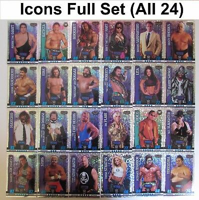 Slam Attax 10 10th Edition Icon Full Set #25 - 48 (ALL 24 Cards) Icons WWE 2017