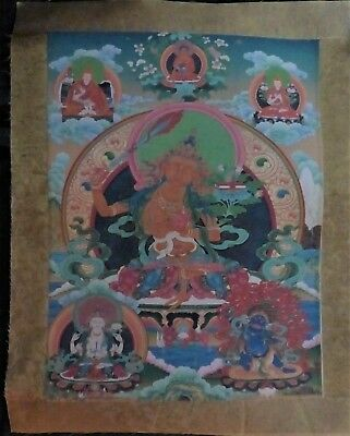 orig $299-NEPAL/TIBET SHAMAN THANGKA EARLY 1900S 20+""