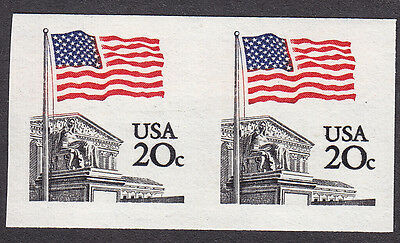 USA 20¢ Flag imperf error Scott#1895d MNH