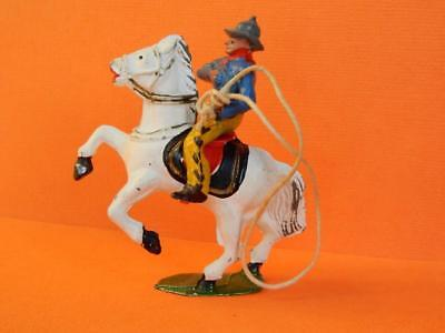 TIMPO TOYS VINTAGE 1950s WILD WEST SERIES LEAD MOUNTED COWBOY WITH LASSO #WW2004