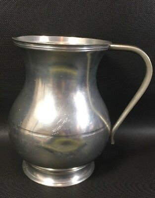 """Meeuws & Zoon Den Hag Holland Pewter 6"""" Pitcher Vintage 14H"""