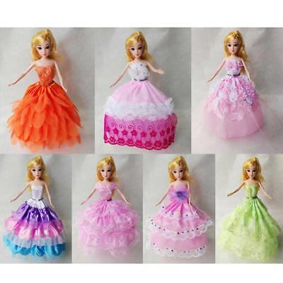 7 Fashion Princess Party Dress/Evening Clothes/Gown for Barbie Doll Clothing