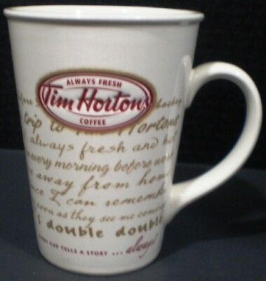 Tim Hortons Mug Every Cup Tells a Story Limited Edition 2009