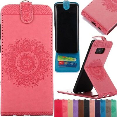 Magnetic Leather Vertical Flip Card Slot Wallet Stand Case Cover For Various