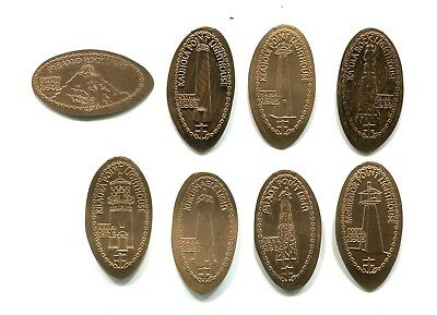Hawaii Elongated Copper Cents: 8 different Hawaii Lighthouses