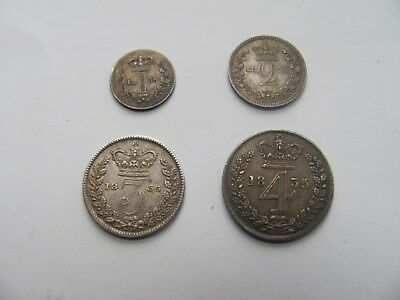 Maundy Set William IIII Fourth 1835  Penny Twopence Threepence Fourpence Rare
