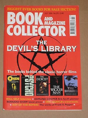 BOOK & MAGAZINE COLLECTOR MAGAZINE #270 July 2006 Horror Films Devil's Library