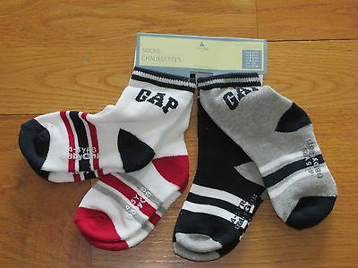 NWT Baby Gap Boy's (4) Pair Logo Socks Size 4-5 Yrs