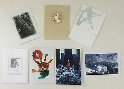 DAVID BOWIE Lot of 7 Personal XMAS CARDS Sent by Bowie To Close Associate RARE