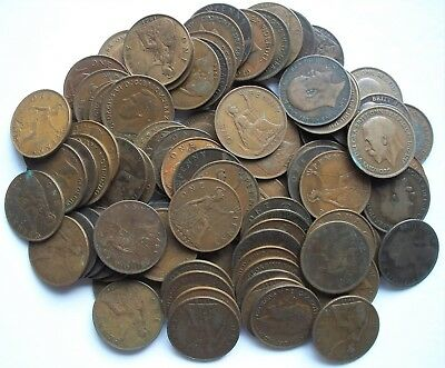 Great Britain 1862-1949 Large Pennies / Lot of 100