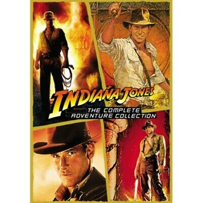 INDIANA JONES The Complete 4 Movie Adventure Collection (DVD) New! Ships Free!