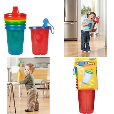 The First Years Take & Toss Spill-Proof Sippy Cups 10 Ounce, 4 Count Durable New