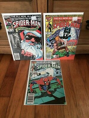Lot Of 3 Spectacular Spider-Man #112,113,114 Marvel Comics 1986 VF/NM