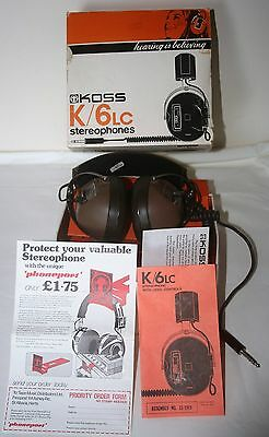 Koss K/6 LC Vintage 1970s Retro Stereophones Dual Level Control Unused Irish