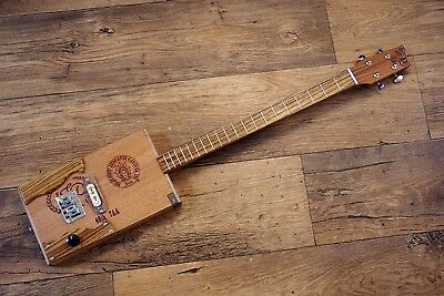 ShonKy ShonKybox4, 4 String Fretted Electric cigar box, Zebrano