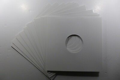 "50 x 12"" White Card Gloss Finish - Record Sleeves/Covers - Free P&P"
