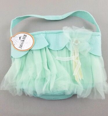 Pottery Barn Kids Tulle Treat Bag Mint Green Halloween New pr1