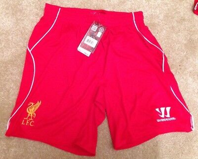 Liverpool FC team Home Kit Adult Shorts SMALL SIZE Warrior Official Red S