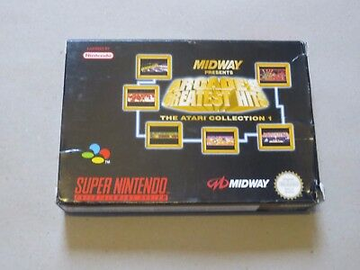 ✪ Arcade Greatest Hits The Atari Collection SNES PAL nur OVP Box only AW7P EUR ✪