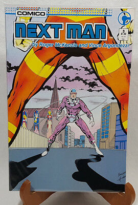 Comico Next Man 3 June 1985 NM FREE Protective Bag