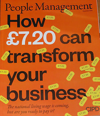 *new* People Management Hr Magazine Dec 2015 National Living Wage Tricky People