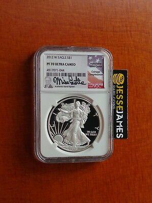 2012 W Proof Silver Eagle Ngc Pf70 Ultra Cameo Rare Mike Castle Signed