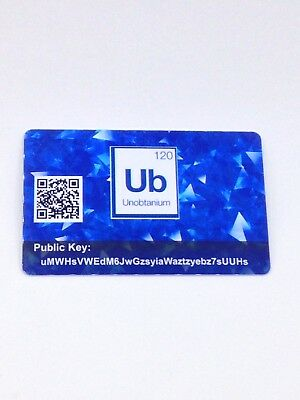 Unobtanium Crypto  PVC Plastic Wallet Durable SAFE and SECURE Cold Storage Card