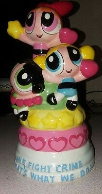 HTF Power Puff Girls Ceramic Painted Bank Comic Cartoon Network Collectable
