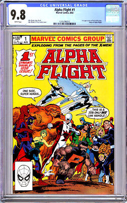 Alpha Flight #1 Cgc 9.8 White Pages John Byrne 1983