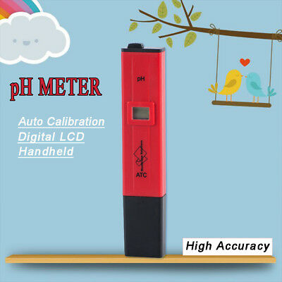 Digital LCD pH Meter ±0.1 High Accuracy ATC Automatic Temperature Compensation