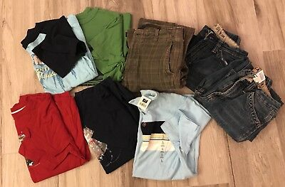 Boys size 10 GAP brand shirts and jeans! Lot of  8! Slightly used!