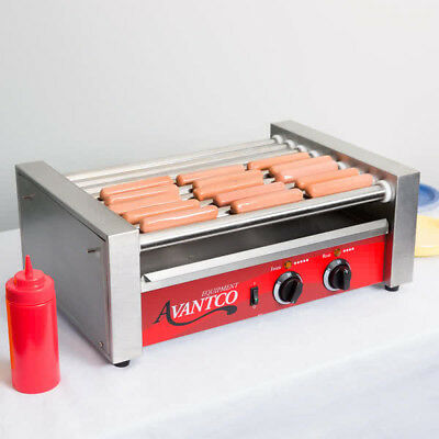 Avantco RG1824  24 Hot Dog Ro9ller Grill with 9 Rollers - 120V, 750W