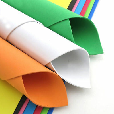 490x490mm EVA Craft Funky Foam Sheets 2mm Thick Choose Colour and Pack Size