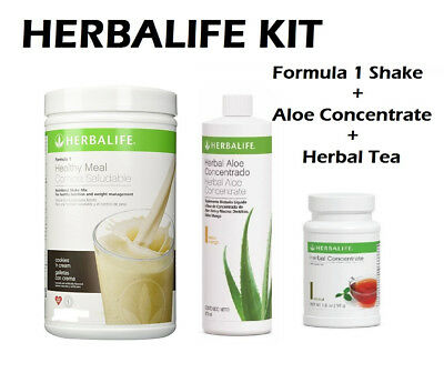 HERBALIFE START KIT FORMULA 1 550g, ALOE CONCENTRATE 473ml, HERBAL TEA 1.8 Oz