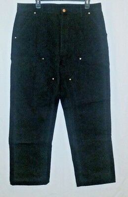 Carhartt Men's Double Front Duck Utility Work Dungaree Pants W36 L30!