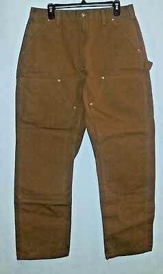 Carhartt Men's Double Front Duck Utility Work Dungaree Pants W36 L32!