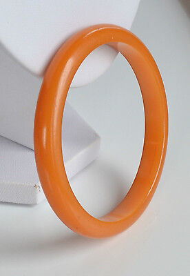 ART DECO egg yolk BAKELITE domed BANGLE BRACELET TESTED vintage