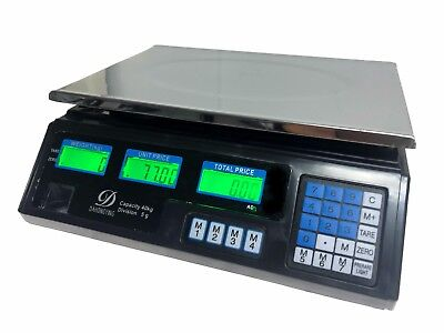 Brand New Digital Price Computer Scale Battery Operated 40Kg Capacity