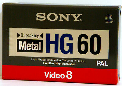 SONY Video8  METAL HG60  P5-60HGB 8mm VIDEO TAPE