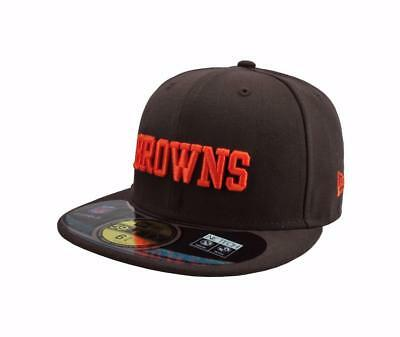 new arrival 2b510 074a9 New Era Kids On Field Cleveland Browns Cap 5950 Fitted Team Hat Size 6-5