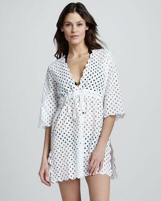3b2563c2c5 TORY BURCH WHITE Eyelet Beach Cover Up, Size Medium, New with Tags ...