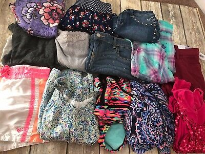 Girls Clothing Lot Size 12 Mixed Item Lot Justice Old Navy Total Girl