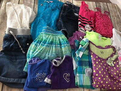 Girls Clothing Lot Size 12 Mixed Item Lot Justice Hanes Total Girl
