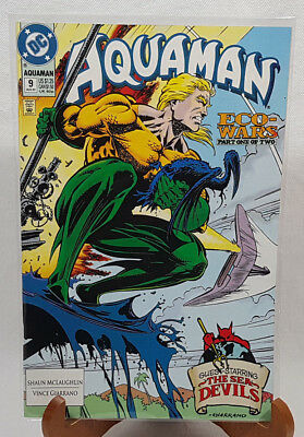 DC Aquaman #9 Aug. 1992 Eco-Wars Part One of Two Comic Book