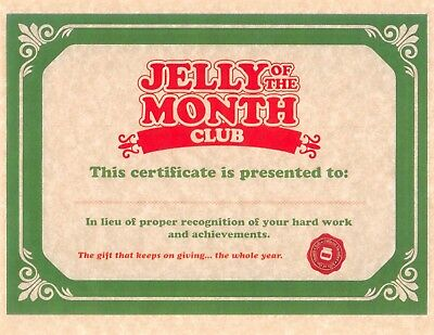 National Lampoon's Christmas Vacation > Jelly Of The Month Club Certificate