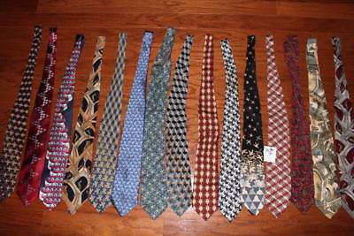 Lot Of 15 M.c. Escher 100% Silk Mens Neck Ties Boxelder Company Relativity Rare