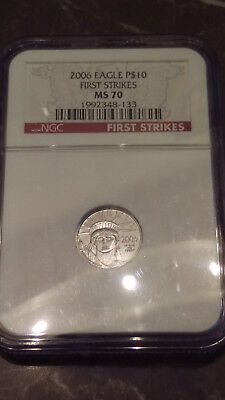 2006 $10 Platinum Eagle Ngc Ms 70 First Strike